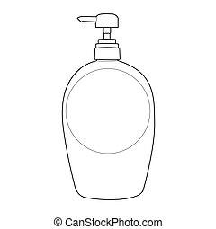 Lotion oder Creme-Pump-Flasche.