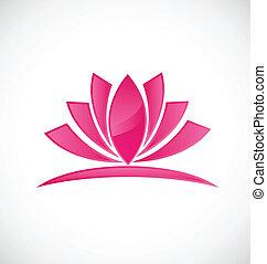 Lotus rosa Blumen-Logo.
