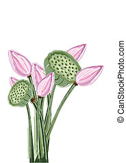 Lotusblüte entfernen