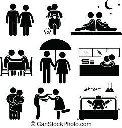 Lover-Paare-Freundin