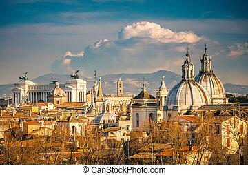 Luftaufnahme von Rom