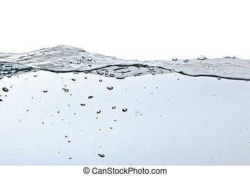 Luftblasen im Wasser isoliert auf weiß