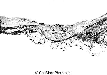 Luftblasen im Wasser - schwarz und weiß