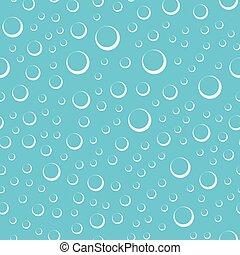 Luftblasen in Wasser nahtlos Muster