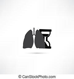 lunge, menschliche , ikone