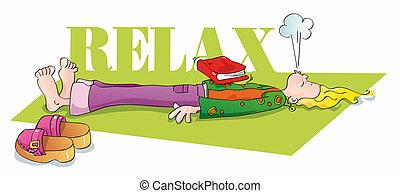 Lustig, dass Jogi entspannt und atmet