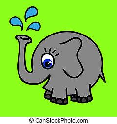Lustige Elefantenrunde, Vektor