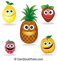 Lustige Früchte a