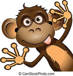 Lustiger Affe