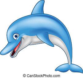 Lustiger Delfin-Zeichentrickfilm