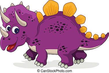 Lustiger Dinosaurier- Cartoon