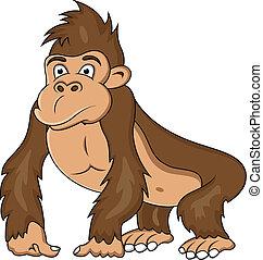 Lustiger Gorilla Cartoon