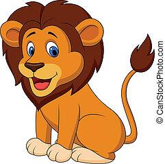 Lustiger Löwen-Zeichentrick
