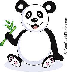 Lustiger Panda-Zeichentrickfilm