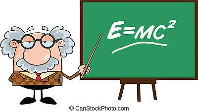 Lustiger Professor mit Spitze