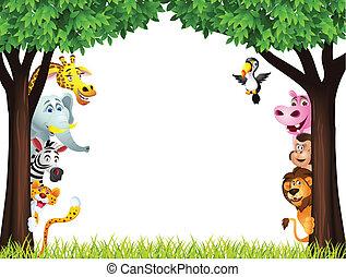 Lustiger Safari-Tier Cartoon