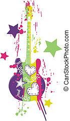 Lustiges Gitarrenbild