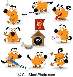 lustiges, hunden, set#2