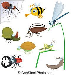 Lustiges Insekt Set Nummer zwei