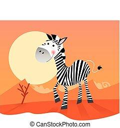 lustiges, zebra