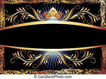 Luxuriver Kupferschmuck und Krone