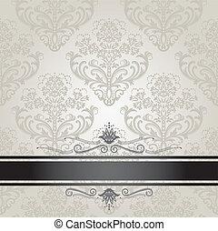 Luxus-Foral-Silberbuch-Abdeckung