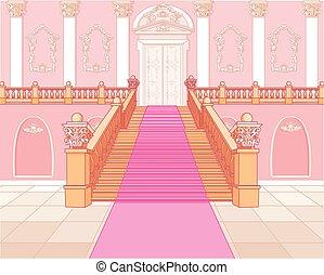Luxustreppe im Palast.