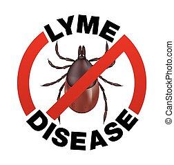 Lyme-Kranken-Zick-Bisen-Ikone