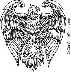 Mächtiger Adler oder Greif.