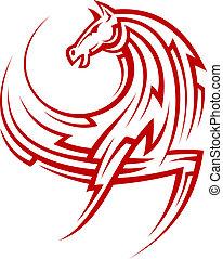 Mächtiges, rotes Pferd.