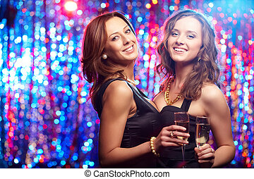Mädchen auf Party