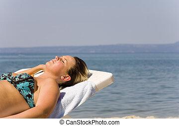 Mädchen auf See