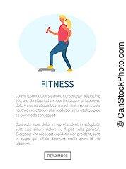 Mädchen, die Sport treiben, Fitness-Webseite, Sport-Vektor.