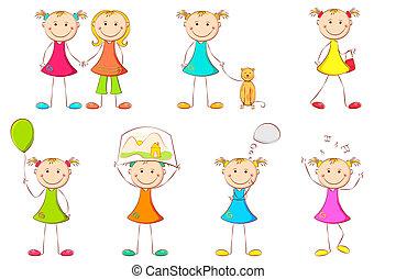 Mädchen, die verschiedene Aktivitäten machen