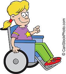 Mädchen im Rollstuhl