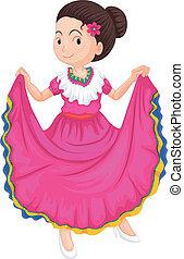 Mädchen in traditionellem Kleid