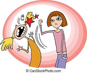 Mädchen kämpfen