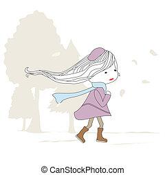 Mädchen laufen.