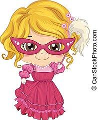 Mädchen-Masquerade-Kostüm.