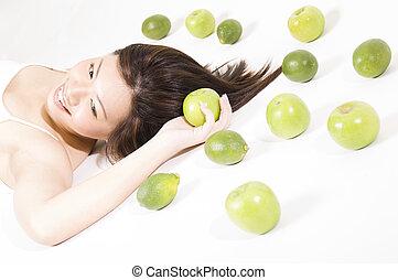 Mädchen mit Früchte 8