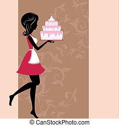 Mädchen mit Kuchen
