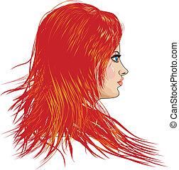 Mädchen mit roten Haaren