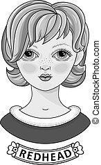 Mädchen mit schönen Haaren. Portrait.