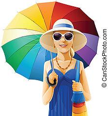 Mädchen mit Schirm.