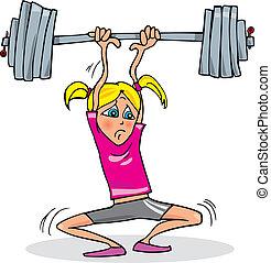 Mädchen mit schwerem Gewicht