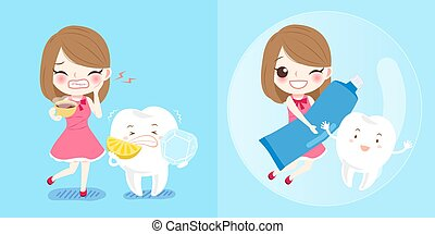 Mädchen mit Zahn.