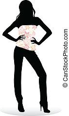 Mädchen posieren