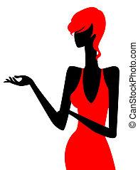 Mädchen-Silhouette