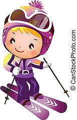 Mädchenskifahren