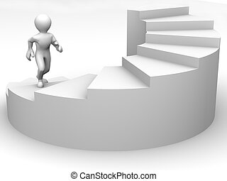 Männer auf der Treppe